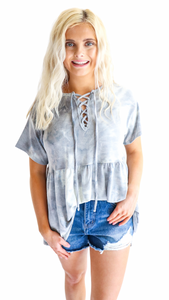 Full Swing Tie Dye Top