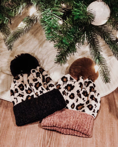 Lovely In Leopard Chenille Beanie