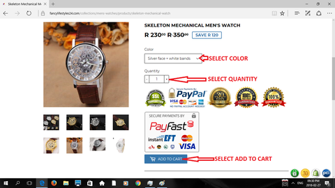 Wristwatch - How To Order