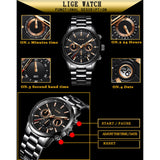 Lige Chronograph Men's Watch - Fancy Lifestyles