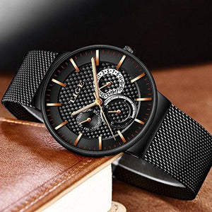 Lige Black Men's Watch 1 - Fancy Lifestyles