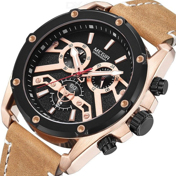 Megir Casual Chronograph Mens Watch - Fancy Lifestyles