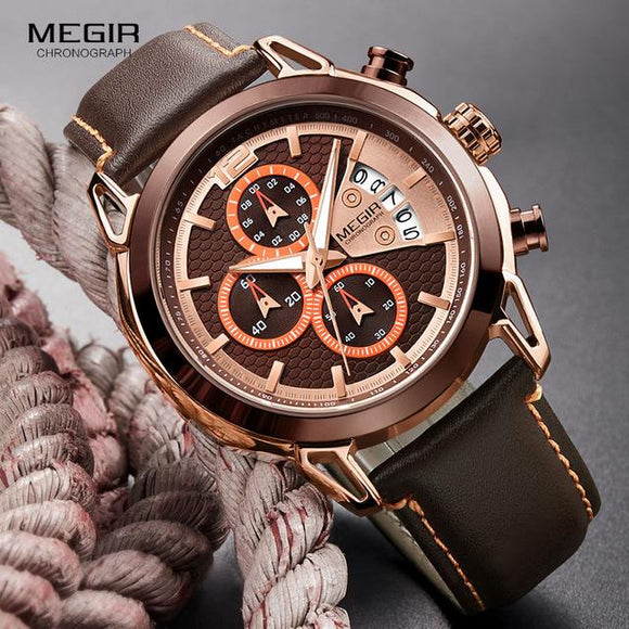 Megir Chronograph Mens Watch - Fancy Lifestyles