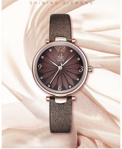 Shengke Ladies Flower Watch - Fancy Lifestyles