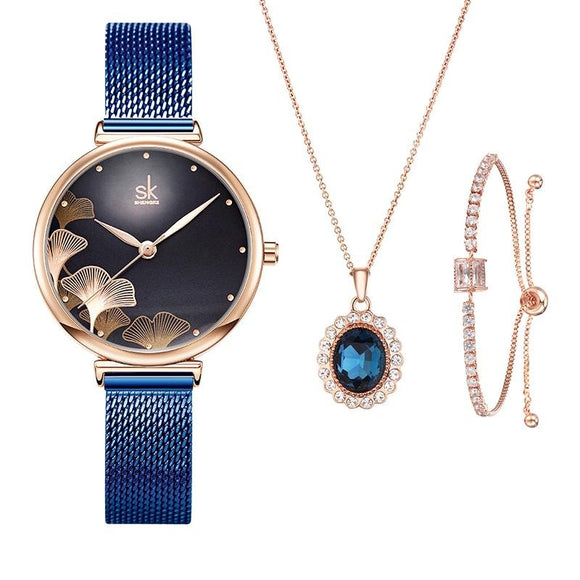 Shengke Ladies Watch Earrings Set 1 - Fancy Lifestyles