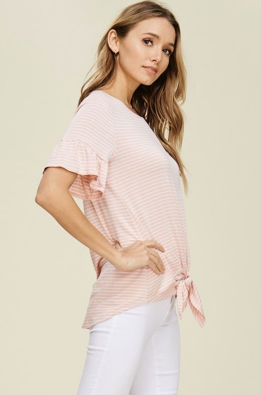 Alexa Tie Top in Blush