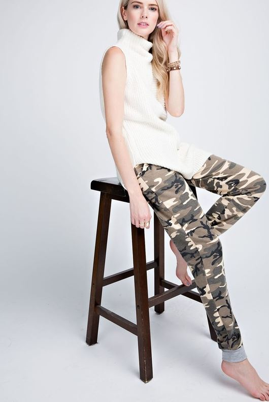 Camille Camo Joggers