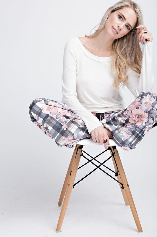 Daisy Plaid Loungers