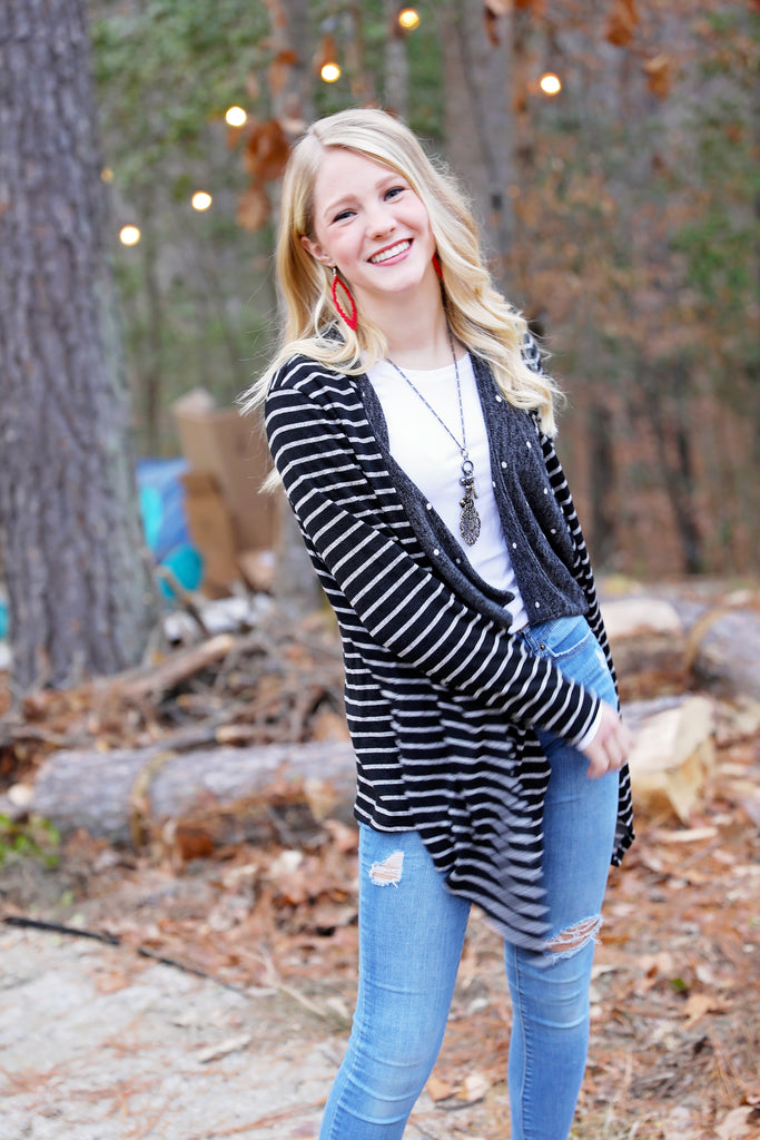 Boston Polka and Stripes Cardi