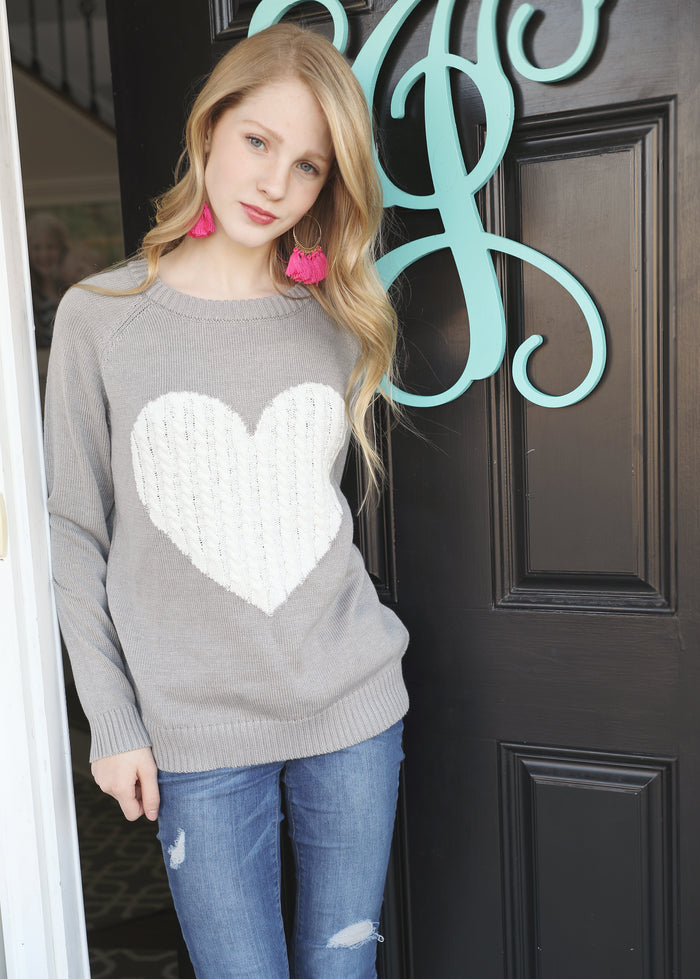 Playing Favorites Sweater - GRAY