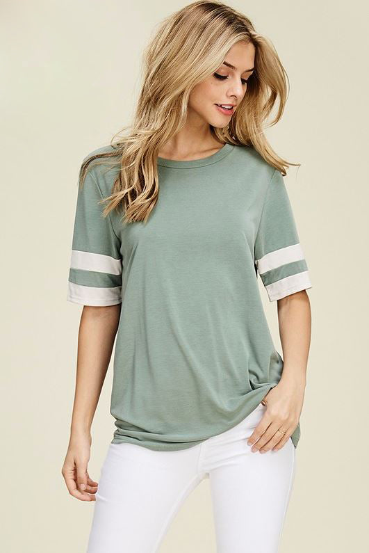 Haven Varsity Top in Sage