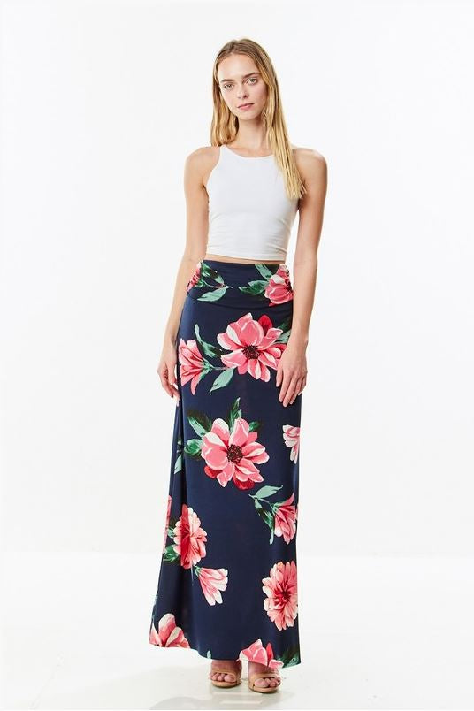 Audrey Maxi Skirt in Navy