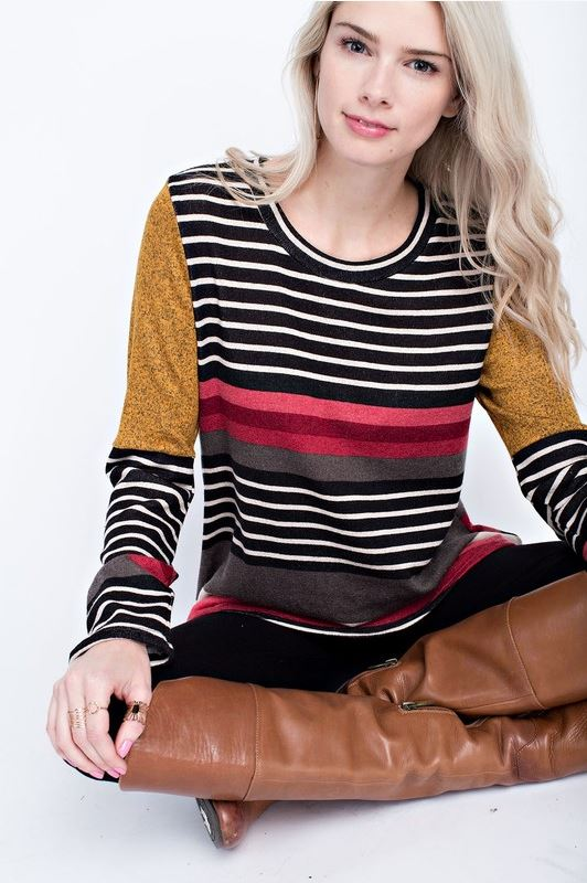 Madison Multi-Color Stripe Top