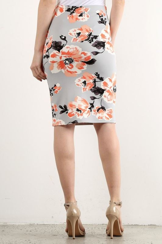 May Day Pencil Skirt in Gray