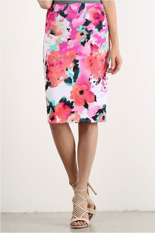 May Day Pencil Skirt in Pink