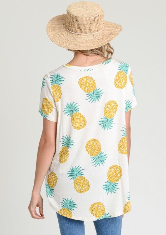 Pineapple Keyhole Top