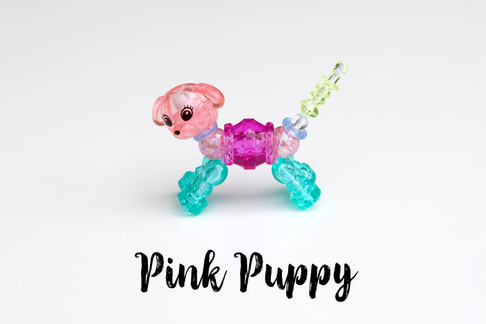 Magic Animal Twist Bracelet (Pink Puppy)