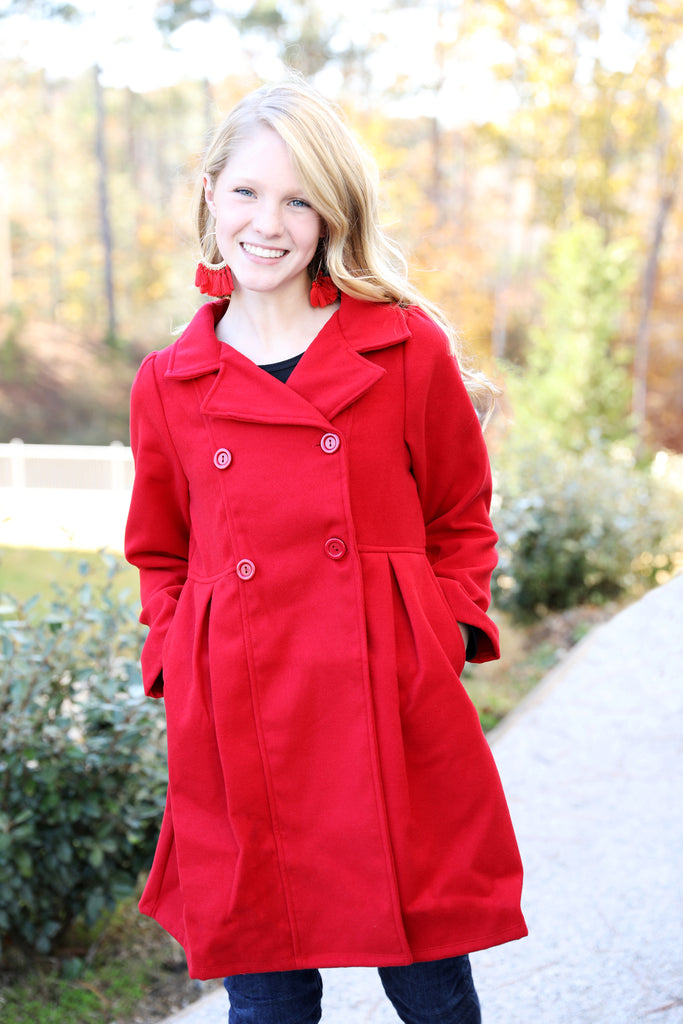 GIRLS Perfect Red Coat