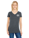 45th Anniversary Ladies V Neck Vintage T