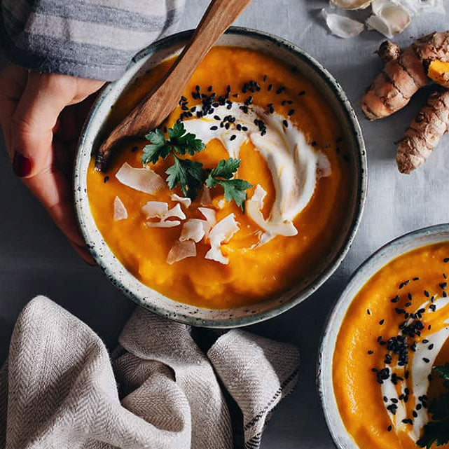 Healing Carrot Soup with Tumeric + Ginger