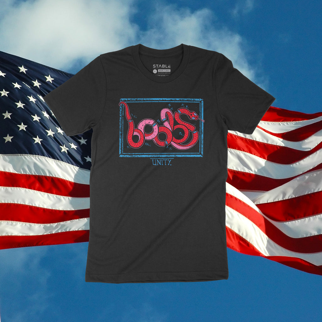 Men's Red White Boobs Tee