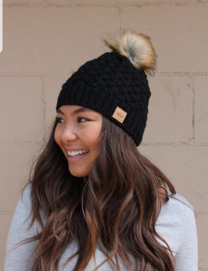 Black Basket Weave Hat