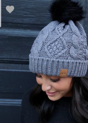 Cable Knit Hat (2 colors)