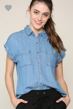 Short Sleeve Chambray