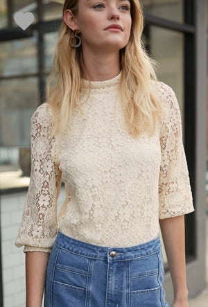 Embroidery Floral Top