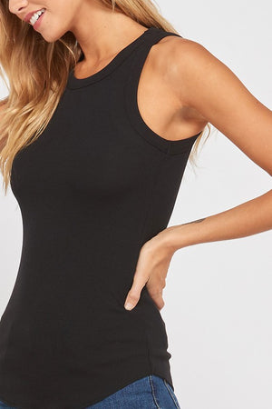 Ribbed Black Tank