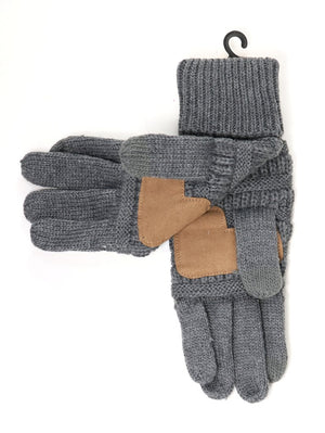 Solid Cable Knit C.C. Gloves
