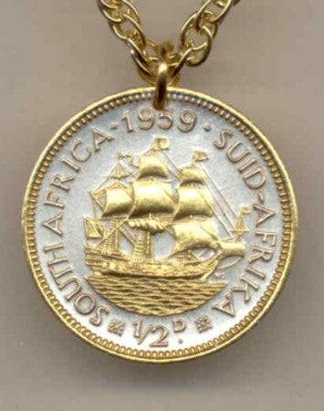 Wedding Gift For Him And Her South African Half Penny Sailing Ship