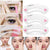 3Pcs/Set Brow Class Drawing Guide Eyebrow Template Plastic Makeup Shaping DIY Beauty Tool