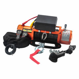 Winch Electric 13500lb Synthetic Rope