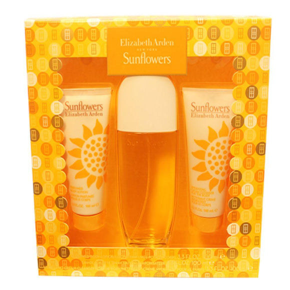 Sunflowers 3 Pc. Gift Set (Eau De Toilette Spray + Body Lotion + Hydrating Cream Cleanser)