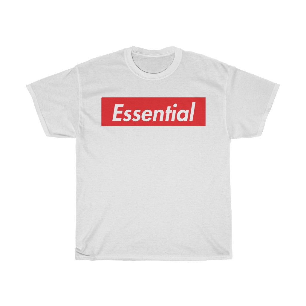 "White Bold ""Essential"" Unisex Heavy Cotton Tee"