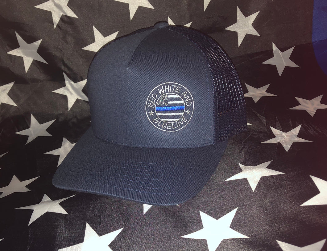 Mens Blue RWBL logo hat