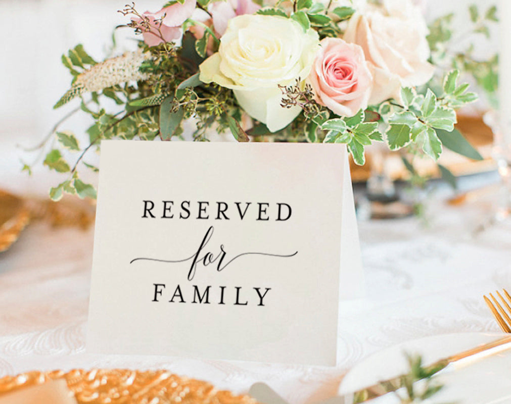 Free Printable Reserved Seating Sign