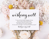 Wishing Well Card, Wedding Wishing Well, Wishing Well Printable, Wedding Insert, Wish Well, PDF Instant Download #BPB133_25 - Bliss Paper Boutique