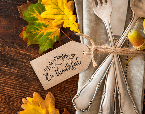 FREE Be Thankful Thanksgiving Printable, Thanksgiving Tag, Be Thankful Tag, Dinner Printable, PDF Instant Download #BPB194 - Bliss Paper Boutique