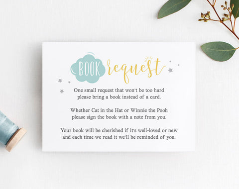 Book Request Card, Baby Shower Book Request, Books for the Baby, Bring a Book, Book Request Baby Shower, PDF Instant Download #BPB196_2 - Bliss Paper Boutique