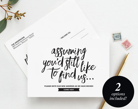 Moving Announcements Bliss Paper Boutique - New address postcards template