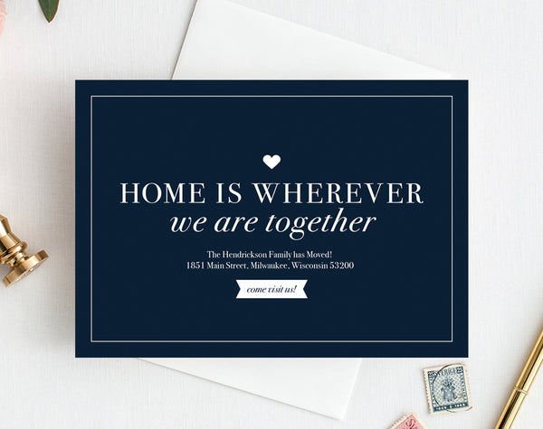 We've Moved Postcard, New Home Announcement, New Address, Moving Announcement Printable Template, Editable, PDF Instant Download #BPB200_3 - Bliss Paper Boutique