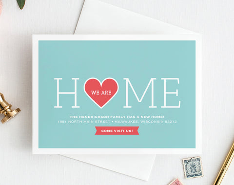 Moving Announcement, New Home Announcement, New Address, We Moved, We Are Home Printable, Postcard Template, PDF Instant Download #BPB200_4 - Bliss Paper Boutique