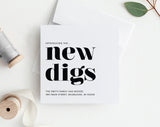 New Home Announcement, New Digs Moving Announcement, New Address, Printable, Template, New House, PDF Instant Download #BPB200_5 - Bliss Paper Boutique