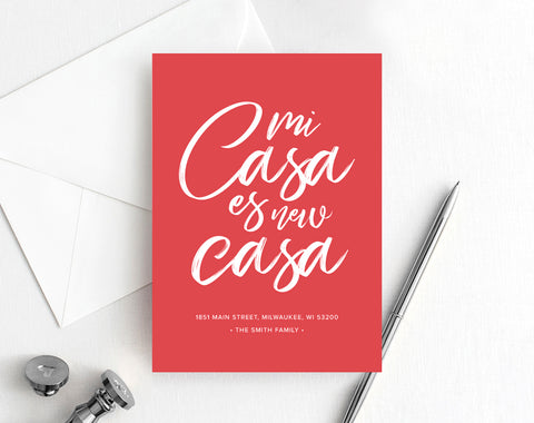 Moving Announcement, Mi Casa es new Casa, New Home Announcement, New Address, Spanish Moving Announcement, PDF Instant Download #BPB200_8 - Bliss Paper Boutique
