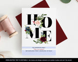 HOME Moving Announcement, New Home Announcement, New Address, Floral Moving Announcement, PDF Instant Download #BPB200_9 - Bliss Paper Boutique