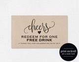 FREE Drink Ticket Template, Wedding Printable, Drink Ticket Wedding Template, PDF Instant Download #BPB203_57 - Bliss Paper Boutique