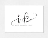 Wedding Day Card, I Do Card, To my Groom Card, To my Bride Card, Bliss Paper Boutique, PDF Instant Download #BPB203_69 - Bliss Paper Boutique