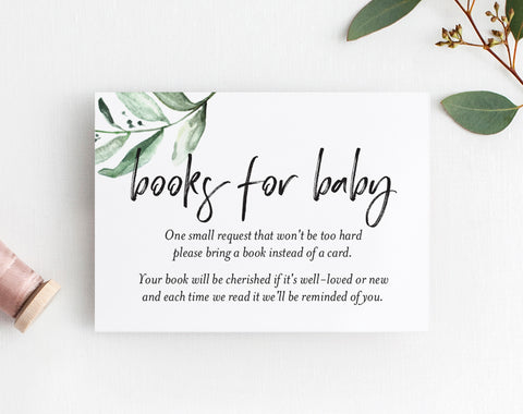Book Request Card, Book Request Baby Shower, Books for Baby, Book Request Insert, Book Request Printable, PDF Instant Download #BPB337_2B - Bliss Paper Boutique